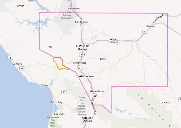 Paso Robles map
